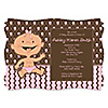 Modern Baby Girl Hispanic - Personalized Baby Shower Invitations