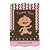 Modern Baby Girl Hispanic - Personalized Baby Shower Thank You Cards