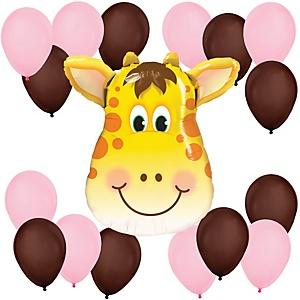 Girl Jolly Giraffe - Baby Shower Balloon Kit