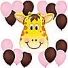 Girl Jolly Giraffe - Birthday Party Balloon Kit