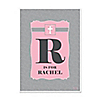 Little Miracle Girl Pink & Gray Cross - Personalized Baby Shower Poster Gift