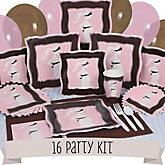 Mommy Silhouette It's A Girl - 16 Person Baby Shower Kit