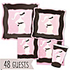 Mommy Silhouette It's A Girl - Baby Shower 48 Big Dot Bundle