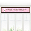 Mommy Silhouette It's A Girl - Personalized Baby Shower Banners