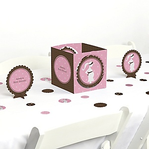 Mommy-To-Be Silhouette – It's A Girl - Baby Shower Centerpiece & Table Decoration Kit
