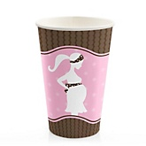 Mommy Silhouette It's A Girl - Baby Shower Hot/Cold Cups - 8 Pack