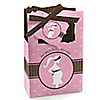 Mommy Silhouette It's A Girl - Personalized Baby Shower Favor Boxes
