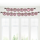 Mommy Silhouette It's A Girl - Personalized Baby Shower Garland Banner