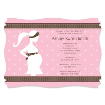 Mommy Silhouette Its A Girl Personalized Baby Shower