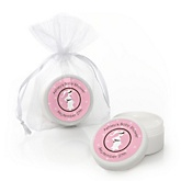 Mommy-To-Be Silhouette – It's A Girl - Personalized Baby Shower Lip Balm Favors