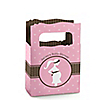 Mommy Silhouette It's A Girl  - Personalized Baby Shower Mini Favor Boxes