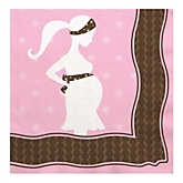 Mommy Silhouette It's A Girl - Baby Shower Luncheon Napkins - 16 Pack