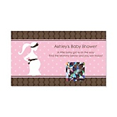 Mommy Silhouette It's a Girl - Personalized Baby Shower Game Scratch Off Cards - 22 ct