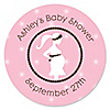 Mommy Silhouette It's A Girl - Personalized Baby Shower Sticker Labels - 24 ct