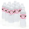 Mommy Silhouette It's A Girl - Personalized Baby Shower Water Bottle Label Favors