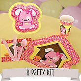 Girl Puppy Dog - 8 Person Baby Shower Kit