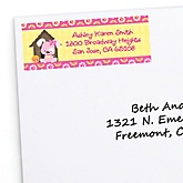 Girl Puppy Dog - Personalized Baby Shower Return Address Labels - 30 ct
