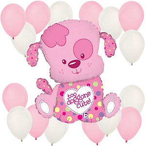 Puppy Girl - Baby Shower Balloon Kit