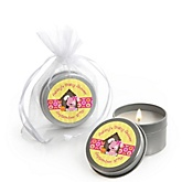Girl Puppy Dog - Candle Tin Personalized Baby Shower Favors