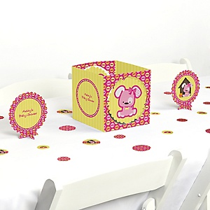 Girl Puppy Dog - Baby Shower Centerpiece & Table Decoration Kit