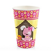 Girl Puppy Dog - Baby Shower Hot/Cold Cups - 8 Pack