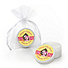 Girl Puppy Dog - Personalized Baby Shower Lip Balm Favors