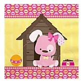 Girl Puppy Dog - Baby Shower Luncheon Napkins - 16 Pack