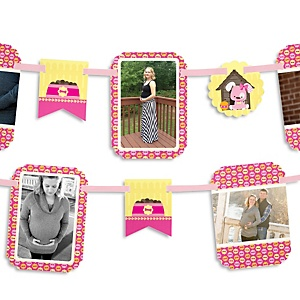 Girl Puppy Dog - Baby Shower Photo Garland Banners