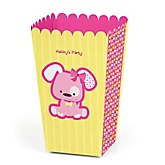 Girl Puppy Dog - Personalized Baby Shower Popcorn Boxes