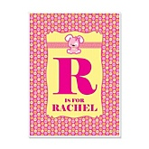 Girl Puppy Dog - Personalized Baby Shower Poster Gifts
