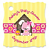 Girl Puppy Dog - Personalized Baby Shower Tags - 20 ct