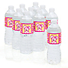 Girl Puppy Dog - Personalized Baby Shower Water Bottle Label Favors