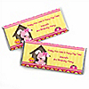 Girl Puppy Dog - Personalized Birthday Party Candy Bar Wrapper Favors