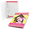Girl Puppy Dog - Birthday Party Fill In Invitations - 8 ct