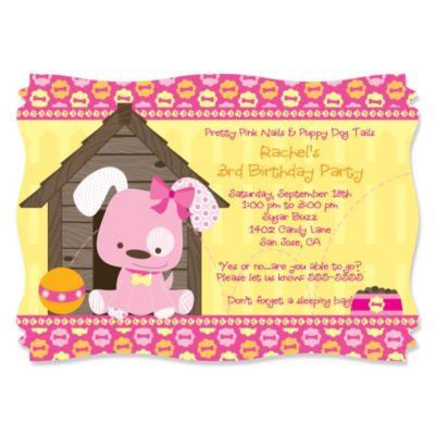 Girl Puppy Dog Birthday Party Theme BigDotOfHappinesscom