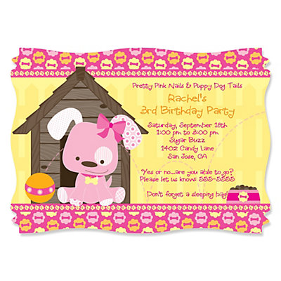 Puppy Party Invitations is the best ideas you have to choose for invitation example