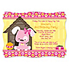 Girl Puppy Dog - Personalized Birthday Party Invitations