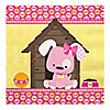 Girl Puppy Dog - Birthday Party Luncheon Napkins - 16 ct
