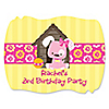 Girl Puppy Dog - Personalized Birthday Party Squiggle Stickers - 16 ct
