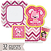 Girl Puppy Dog/Chevron Pink - 32 Big Dot Bundle