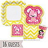 Girl Puppy Dog/Chevron Yellow - 16 Big Dot Bundle