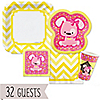 Girl Puppy Dog/Chevron Yellow - 32 Big Dot Bundle