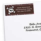 Skullicious™ - Baby Girl Skull - Personalized Baby Shower Return Address Labels - 30 ct