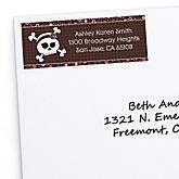 Skullicious™ - Baby Girl Skull - Personalized Baby Shower Return Address Labels - 30 ct