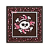 Skullicious™ - Baby Girl Skull - Baby Shower Beverage Napkins - 16 ct