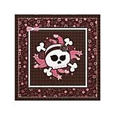 Skullicious™ - Baby Girl Skull - Baby Shower Beverage Napkins - 16 Pack
