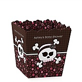 Skullicious™ - Baby Girl Skull - Personalized Baby Shower Candy Boxes