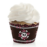 Skullicious™ - Baby Girl Skull - Baby Shower Cupcake Wrappers & Decorations
