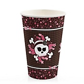 Skullicious™ - Baby Girl Skull - Baby Shower Hot/Cold Cups - 8 Pack