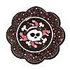 Skullicious™ - Baby Girl Skull - Baby Shower Dessert Plates - 8 ct
